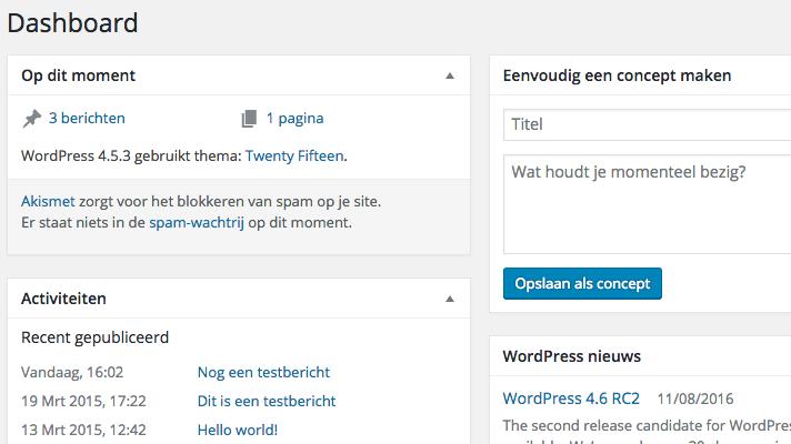 10 handige WordPress-functies die je nog niet kende: dashboard aanpassen in WordPress