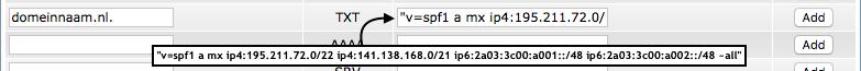 Het SPF-record uitgelegd: het invoeren van het SPF-record via 'DNS Management'