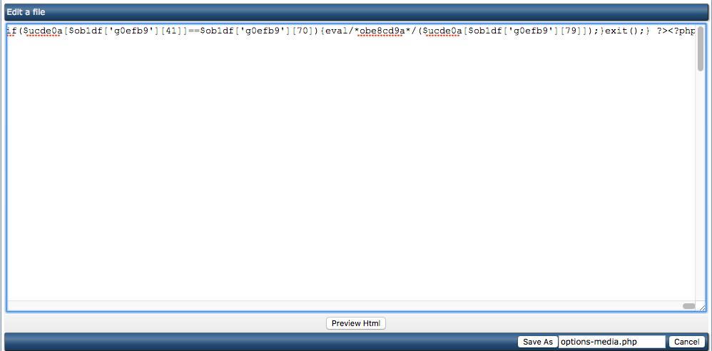 Het herkennen van malware-bestanden binnen je website: een voorbeeld van code-injectie