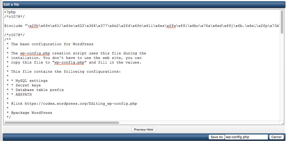 Het herkennen van malware-bestanden binnen je website: een voorbeeld van code-injectie op basis van een include