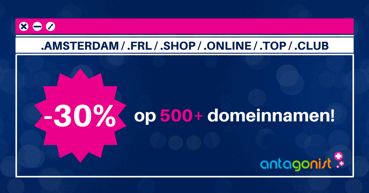 Dag van de Domeinnaam: nieuwe gTLD's ook met 30% korting!
