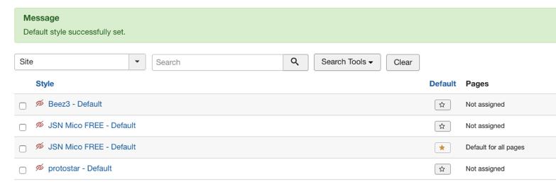 Overzicht van Joomla-templates