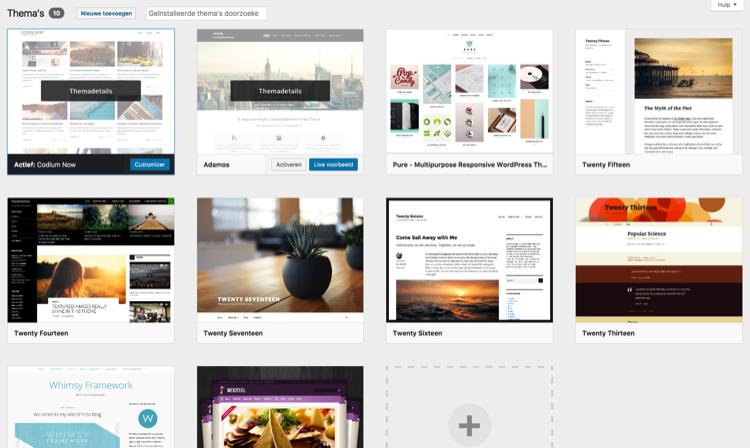Je WordPress-thema bekijken en activeren