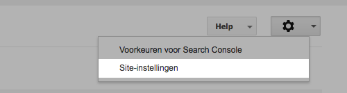 Site-instellingen in Google Search Console