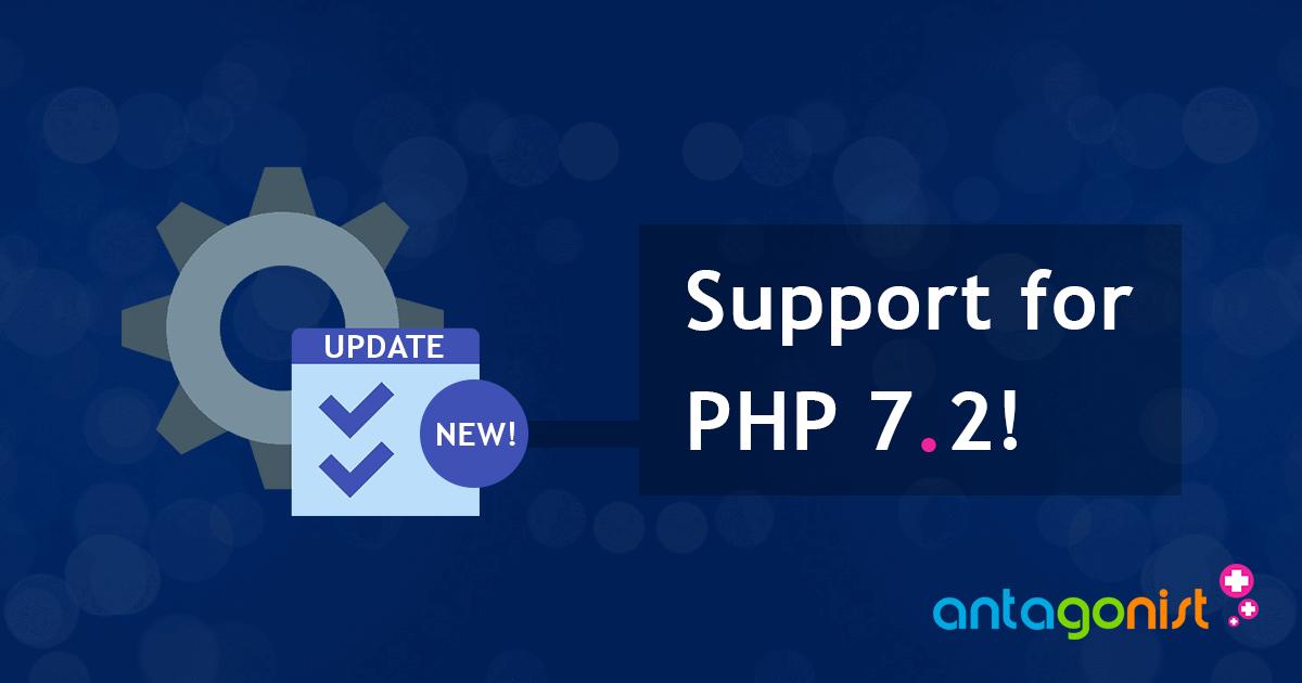 Het toevoegen van ondersteuning voor PHP 7.2 in populaire cms'en door ontwikkelaars.