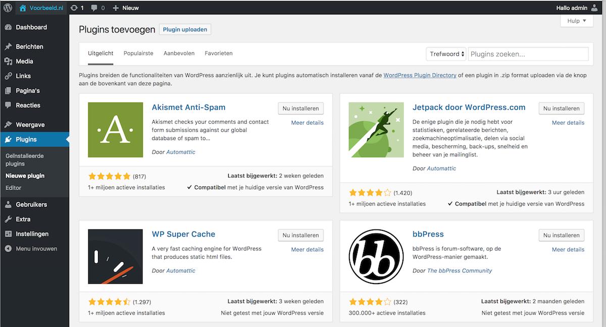Waar moet je op letten als je een nieuwe plugin voor WordPress gaat installeren?