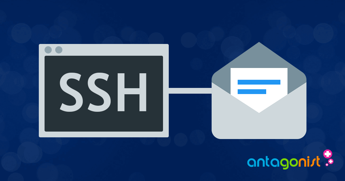 Verbinden met SSH om je imapsync te starten.