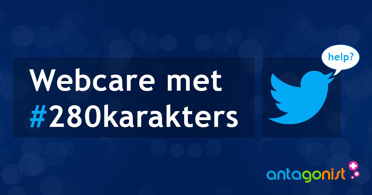 Twitter staat 280 karakters toe: onnodig of een welkome toevoeging voor webcare?