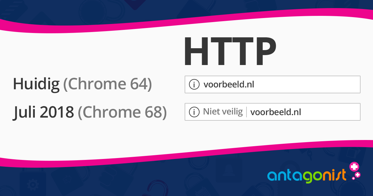 Chrome gaat websites zonder SSL als onveilig markeren.