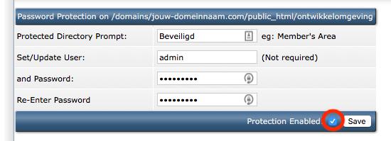 Een map afschermen met een wachtwoord.
