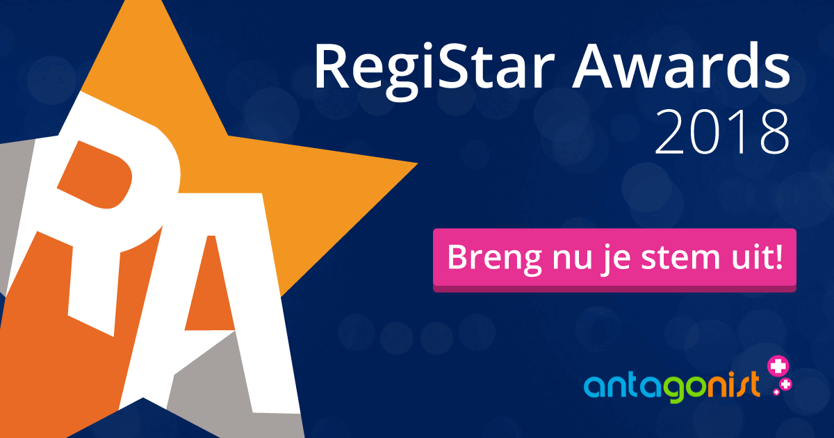 We zijn genomineerd voor de RegiStar Awards 2018, stem nu!