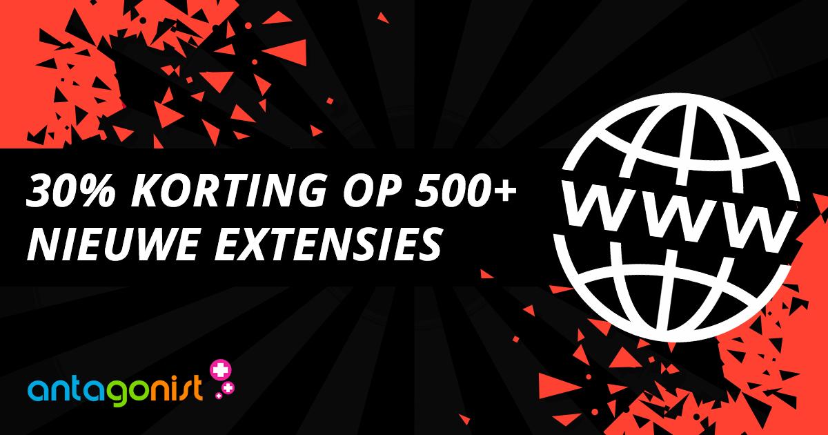 Black Friday 2018: 30% korting op 500+ nieuwe extensies!