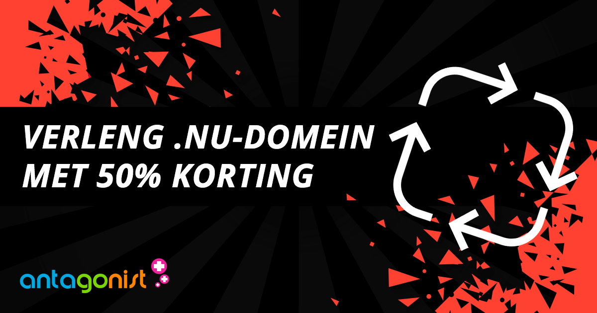 Black Friday 2018: verleng .NU-domeinen met 50% korting!