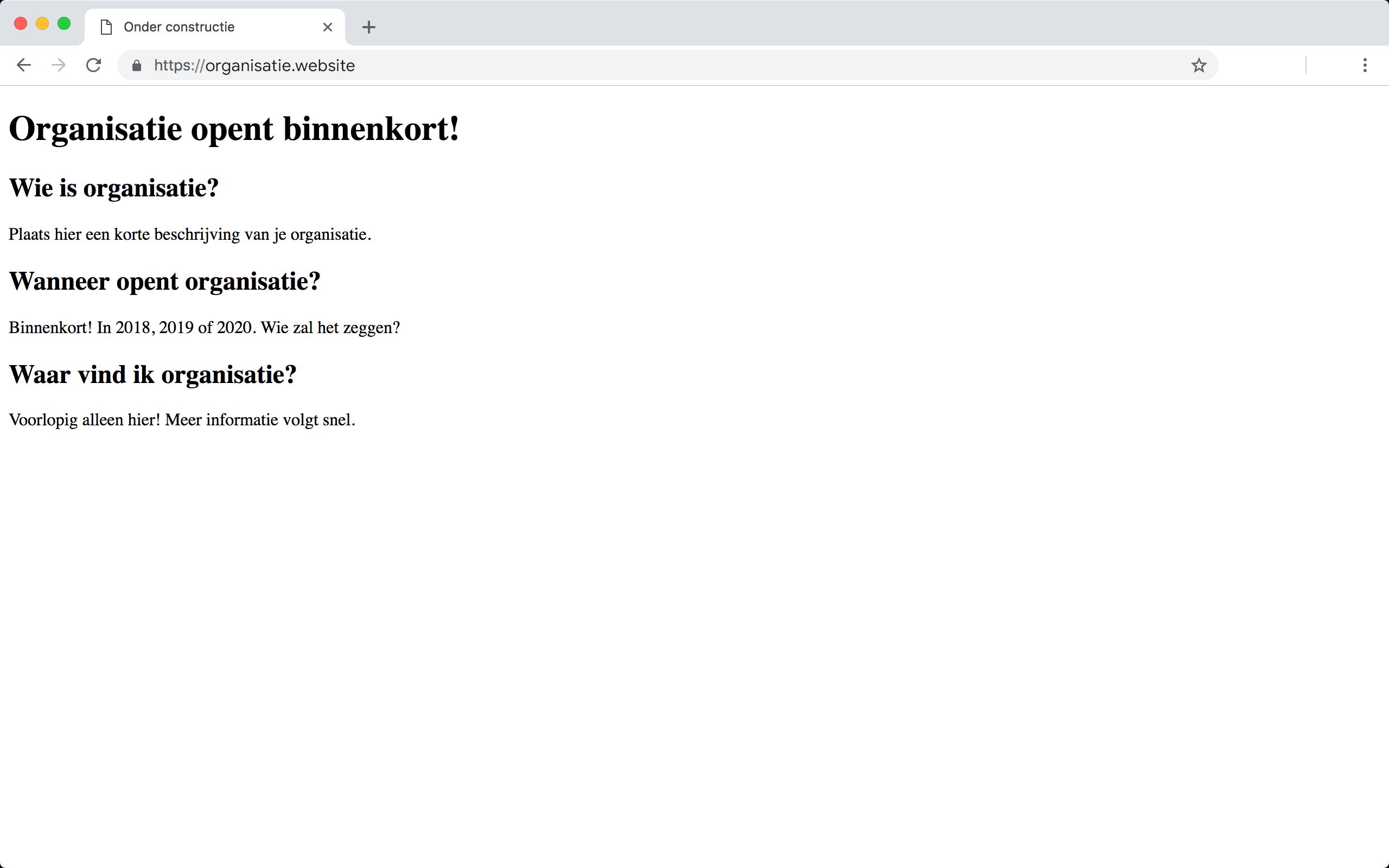 Je eigengemaakte placeholder zonder CSS-opmaak.