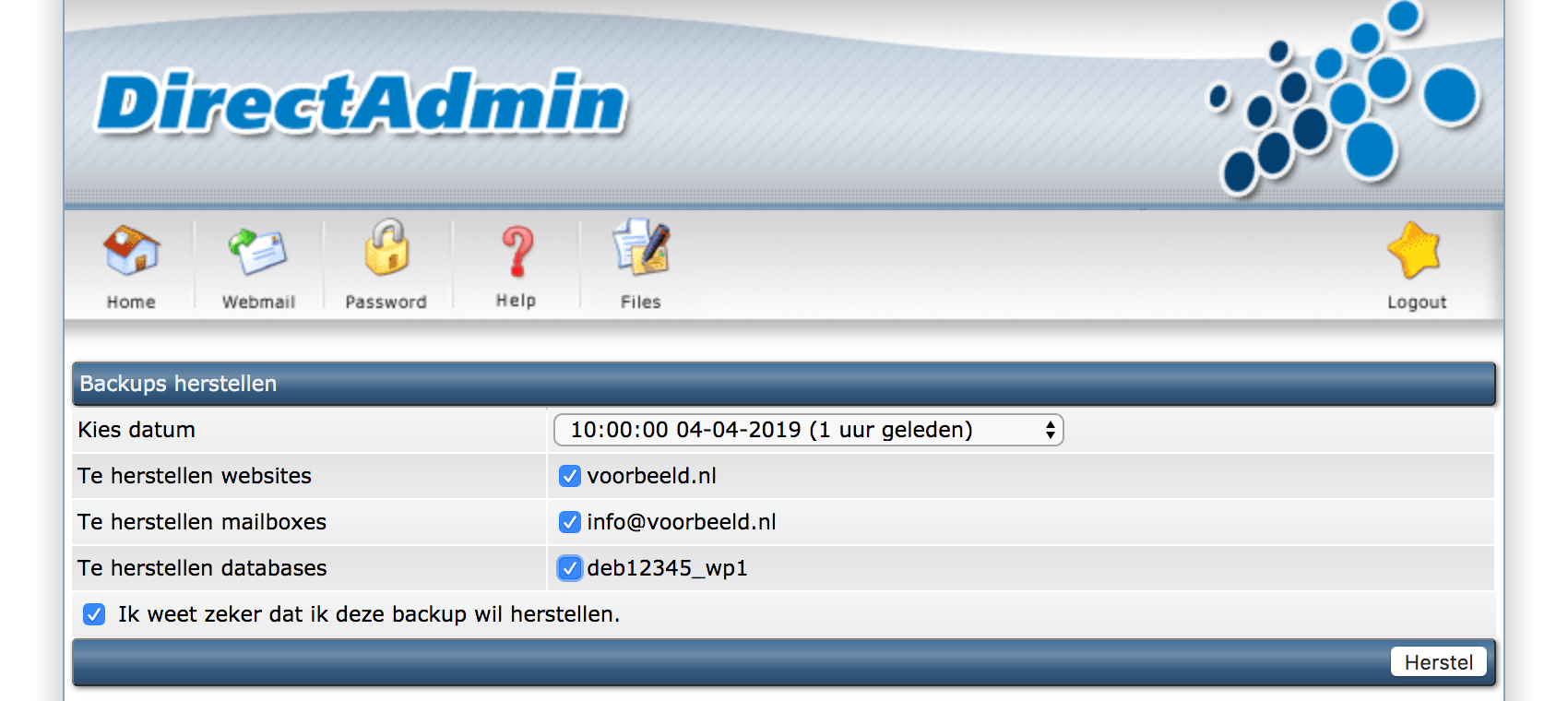 Je website herstellen met Antagonist Backups.