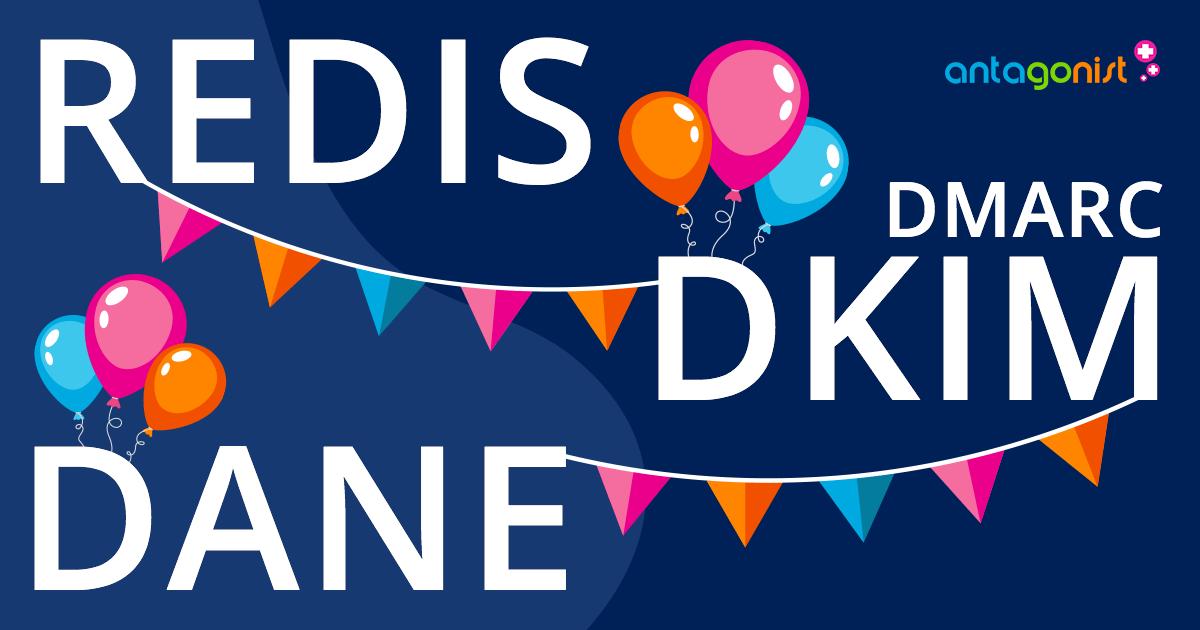 Terugblik 2019: Redis, DMARC, DKIM en DANE.