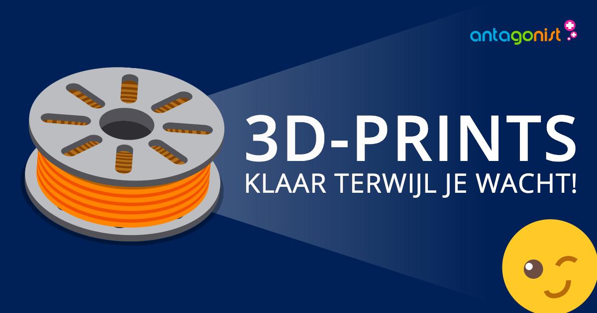 Slogan voor een 3D-printwebshop.