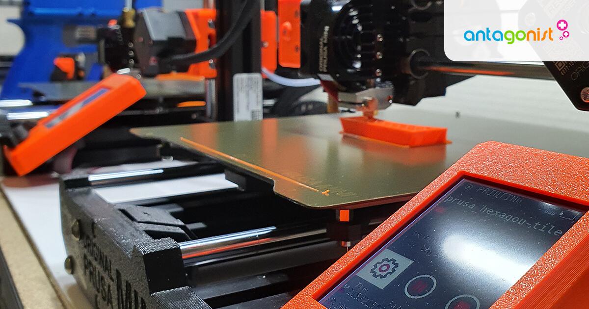 3D-printers op een rij.