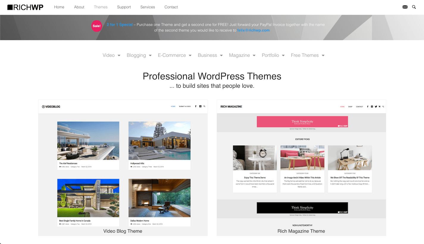 WordPress templates van RichWP.