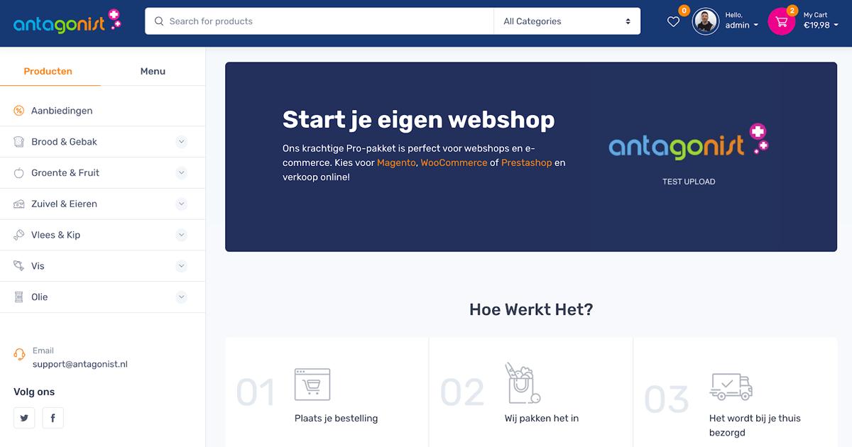 fictieve voorbeeld webshop