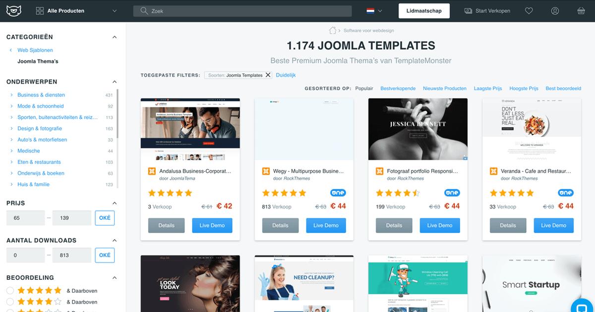 Joomla templates: Templatemonster