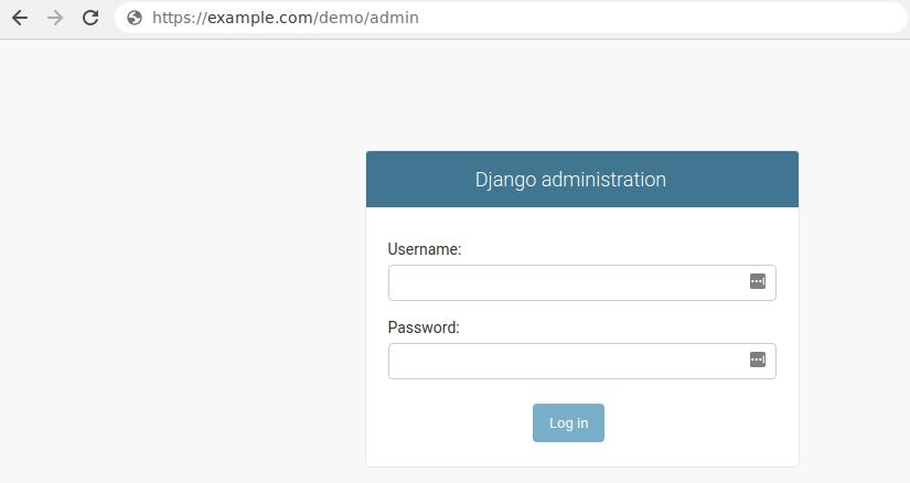 Het Django-admingedeelte.