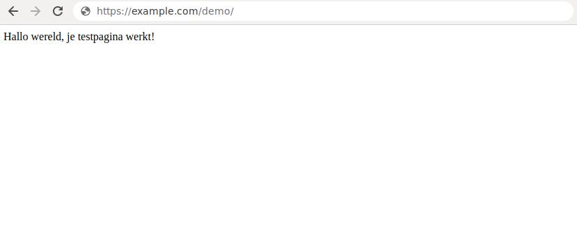 Hello-world-testpagina met Python.