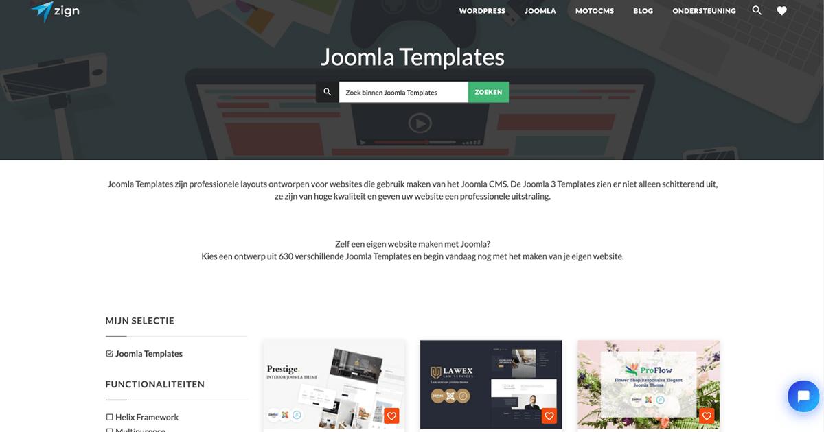 Joomla templates kopen bij Zign