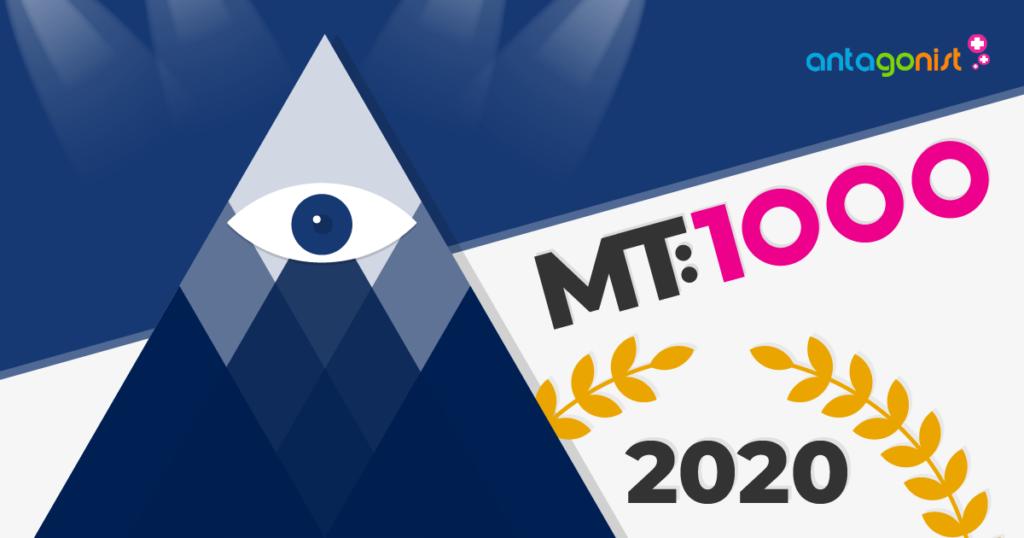 MT1000: Antagonist in 2020 opnieuw bij de beste zakelijke dienstverleners.