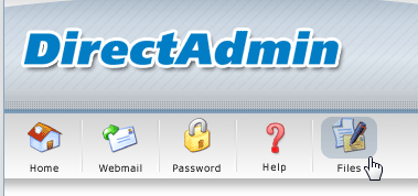 Ga naar de 'File Manager' in DirectAdmin.