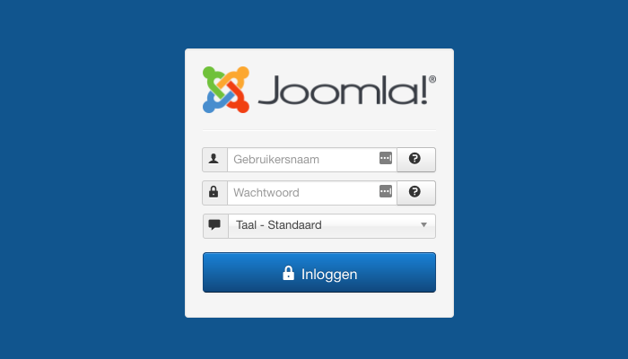 Log in op het dashboard van je Joomla-appplicatie.